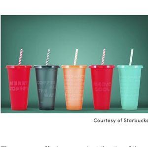 NIB Starbucks holiday 2019 reusable cold cups